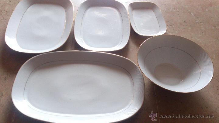 LOTE VAJILLA SANTA CLARA (Antigüedades - Porcelanas y Cerámicas - Santa Clara)