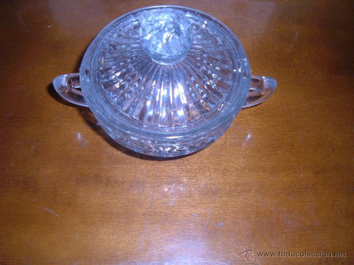 Antigüedades: Azucarero de cristal prensado - Foto 2 - 106678779