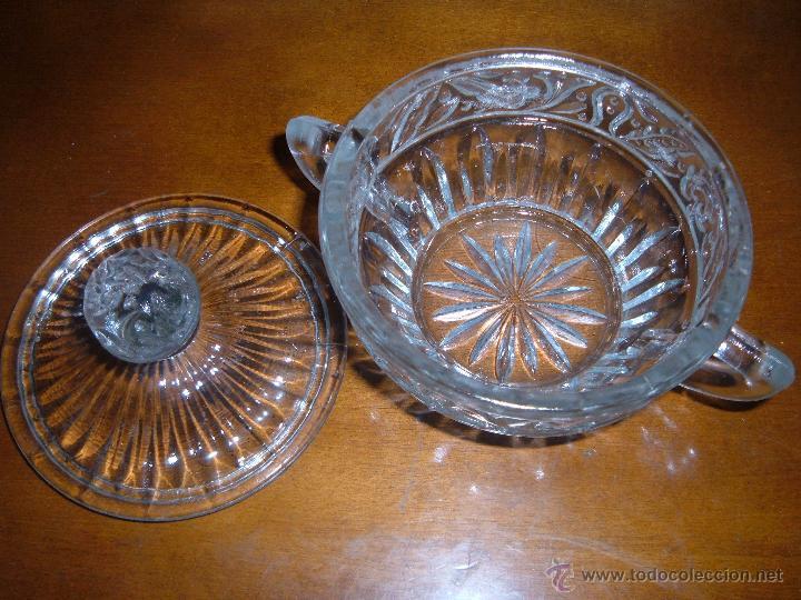 Antigüedades: Azucarero de cristal prensado - Foto 3 - 106678779