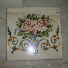 Antigüedades: AZULEJO ANTIGUO. CERÁMICA. CIRCA 1870. ONDA - CASTELLÓN.. Lote 47319731