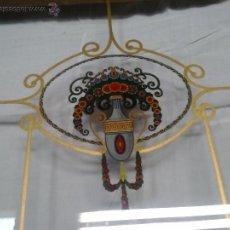 Antigüedades: CRISTALES DECORADOS PARA VITRINA , APARADOR , CON MARCO.. Lote 47329894