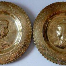 Antigüedades: BANDEJAS DE COLGAR - COBRE REPUJADO A MANO - LOS REYES CATOLICOS. Lote 47345950