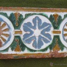 Antigüedades: AZULEJO ANTIGUO DE TOLEDO. TECNICA DE ARISTA. RENACIMIENTO. SIGLO XVI.. Lote 47346679