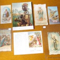 Antigüedades: LOTE ESTAMPAS RELIGIOSAS O RECORDATORIOS. Lote 47349790