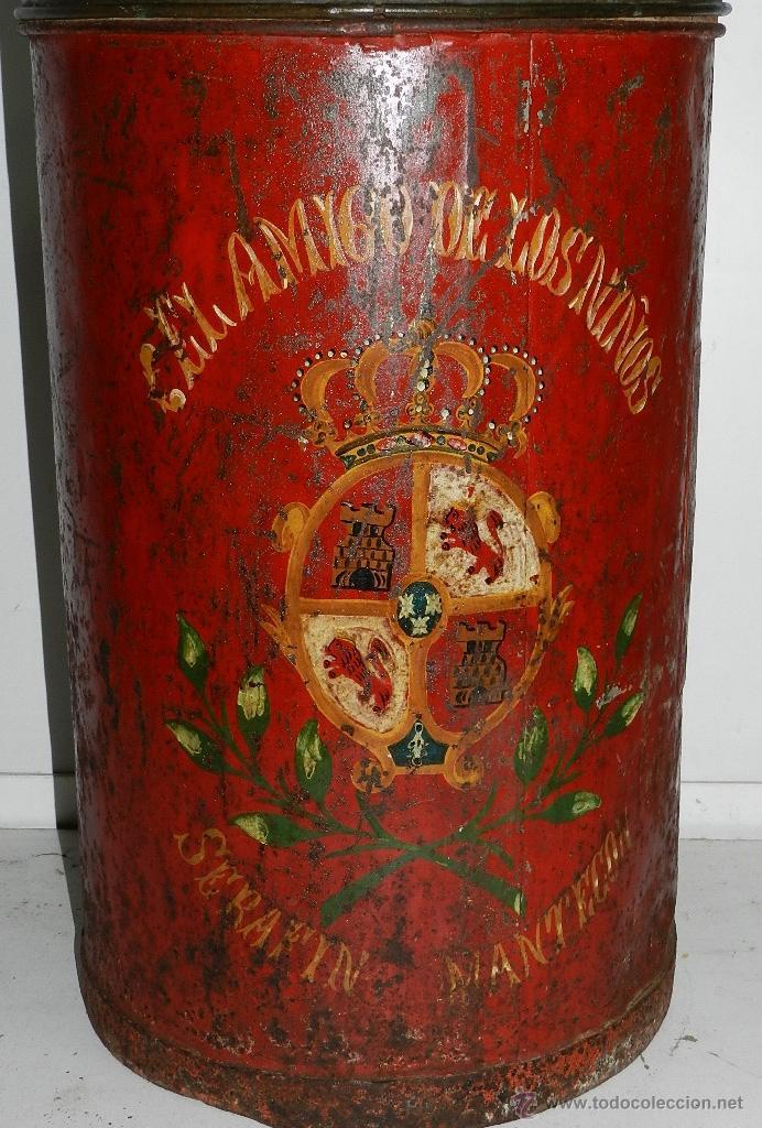 Antigüedades: ANTIGUA Y ORIGINAL BARQUILLERA DEL BARQUILLERO SERAFIN MANTECON, EL AMIGO DE LOS NIÑO, FINALES DEL S - Foto 2 - 47358588