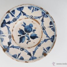 Antigüedades: ANTIGUO PLATO EN CERAMICA CATALANA CIRCA 1900. Lote 47361845