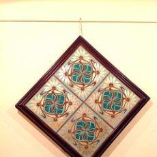 Antigüedades: AZULEJOS MODERNISTAS ART NOUVEAU MEDIDAS 47X47CM. Lote 47365343