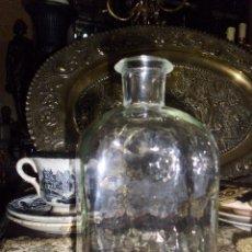 Antigüedades: ANTIGUA BOTELLA DE CRISTAL SOPLADO. Lote 47367498