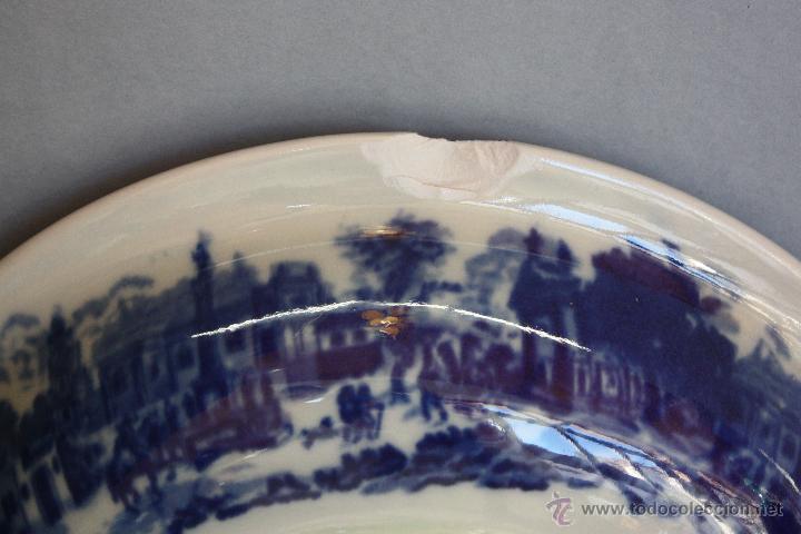 Antigüedades: Jarra y plato de cerámica inglesa (Victoria Ware ironstone) - Foto 6 - 47372395