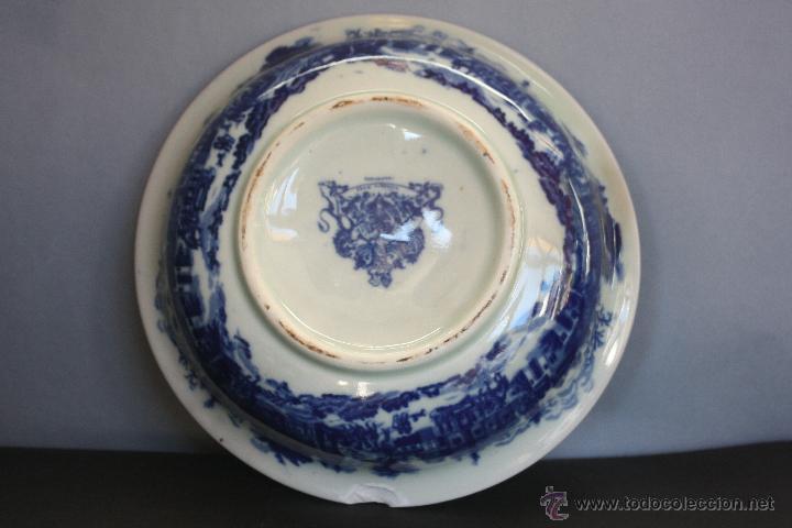 Antigüedades: Jarra y plato de cerámica inglesa (Victoria Ware ironstone) - Foto 7 - 47372395