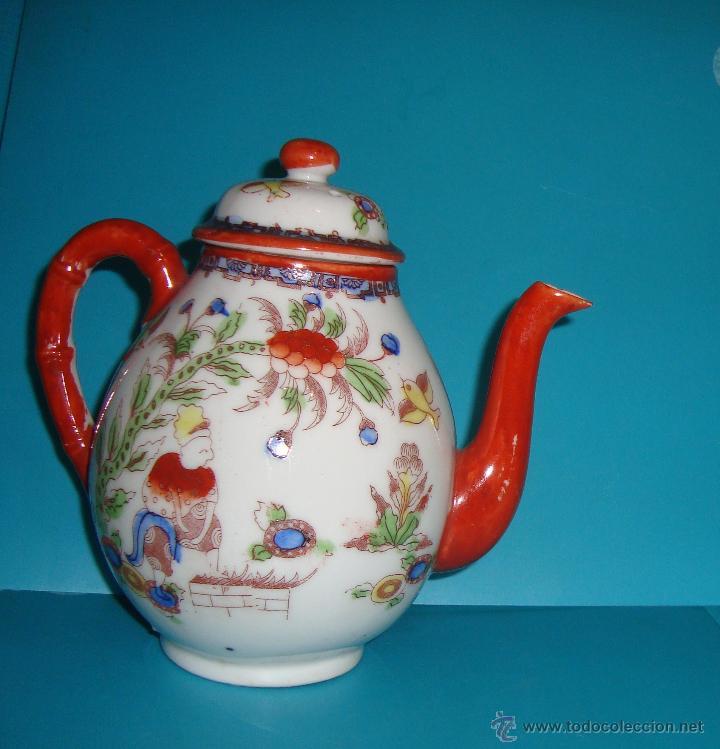 JARRA TETERA DE PORCELANA CHINA (Antigüedades - Porcelana y Cerámica - Japón)