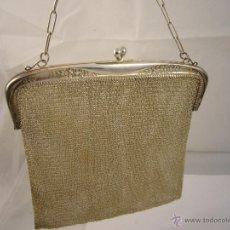 Antigüedades: BOLSO Y MONEDERO GRANDE PLATA. PESO 231 GR. Lote 47387907