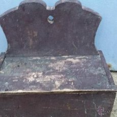 Antigüedades: ANTIGUO CUCHARERO DE MADERA.. Lote 47395239