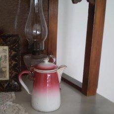 Antigüedades: ANTIGUA TETERA EN METAL ESMALTADO,GBN,BAVARIA.ALEMANIA.1900-1920.. Lote 54476503