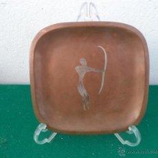 Antigüedades: PLATO DE COBRE CUADRADO. Lote 47396507