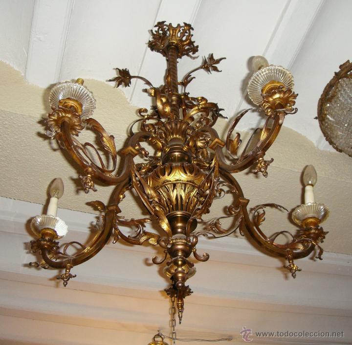 Magnifica lampara de ara a de techo hacia 1820 comprar l mparas antiguas en todocoleccion - Lamparas de arana segunda mano ...