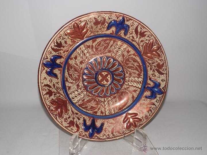 PLATO REFLEJOS METÁLICOS. MANISES SIGLO XIX. (Antigüedades - Porcelanas y Cerámicas - Manises)