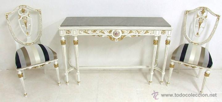 ENTRADA /RECIBIDOR ESTILO LUIS XVI (Antigüedades - Muebles Antiguos - Consolas Antiguas)