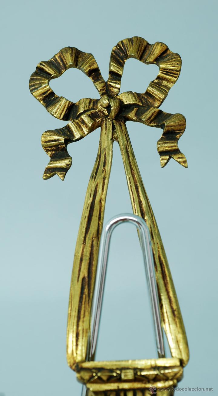 Antigüedades: Pareja apliques bronce dorado estilo Luis XVI hacia 1900 - Foto 2 - 47430907