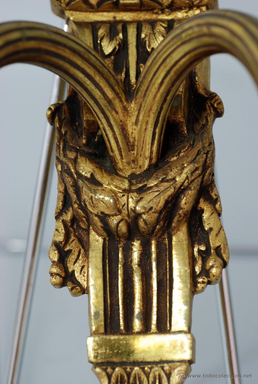 Antigüedades: Pareja apliques bronce dorado estilo Luis XVI hacia 1900 - Foto 6 - 47430907