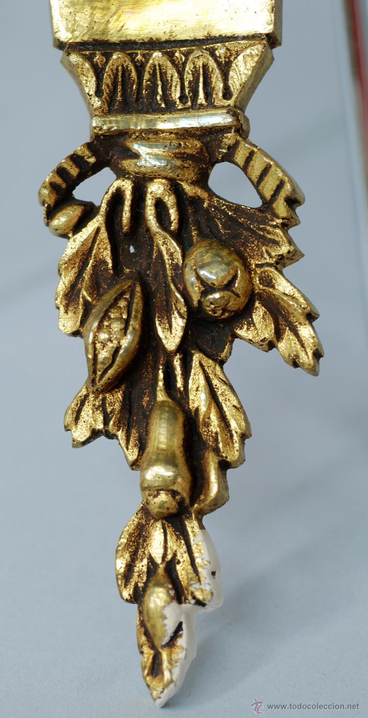 Antigüedades: Pareja apliques bronce dorado estilo Luis XVI hacia 1900 - Foto 7 - 47430907