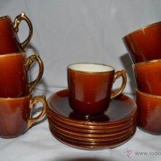 Antigüedades: ANTIGUO JUEGO DE CAFE DE 7 SERVICIOS - PORCELANA FRANCESA CHOISY LE ROI - SIGLO XIX - 1900. Lote 47432795