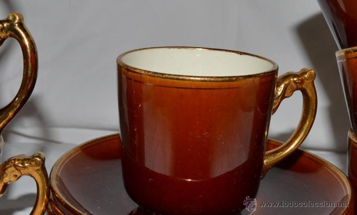 Antigüedades: ANTIGUO JUEGO DE CAFE DE 7 SERVICIOS - PORCELANA FRANCESA CHOISY LE ROI - SIGLO XIX - 1900 - Foto 2 - 47432795