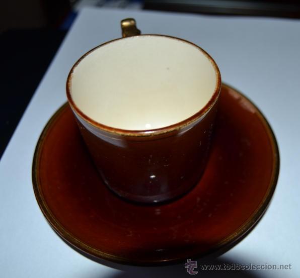 Antigüedades: ANTIGUO JUEGO DE CAFE DE 7 SERVICIOS - PORCELANA FRANCESA CHOISY LE ROI - SIGLO XIX - 1900 - Foto 5 - 47432795