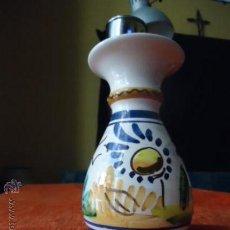 Antigüedades: JARRON PINTADO A MANO, SEVILLA 15 CM. Lote 37954987