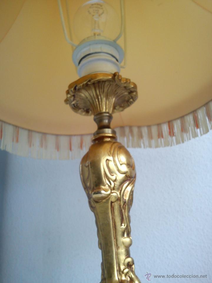 Antigüedades: MAGNIFI ANTIGUA LAMPARA ANOS 40 ,50 EL Pé ES HECHO DE METAL PINTADO A POLVO ORO 24K SELADO DRIMMER - Foto 3 - 47457247