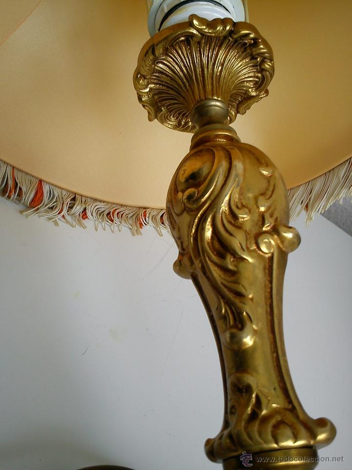 Antigüedades: MAGNIFI ANTIGUA LAMPARA ANOS 40 ,50 EL Pé ES HECHO DE METAL PINTADO A POLVO ORO 24K SELADO DRIMMER - Foto 11 - 47457247