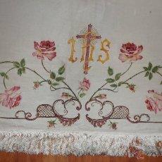 Antigüedades: FRONTAL DE ALTAR , PINTADO A MANO. Lote 47468799