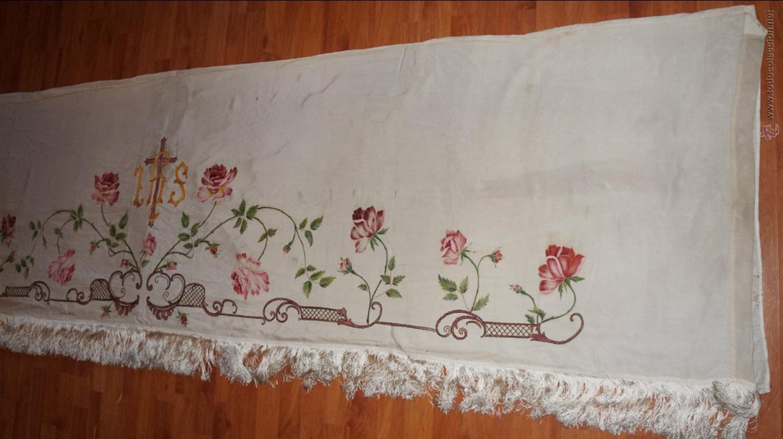 Antigüedades: FRONTAL DE ALTAR , PINTADO A MANO - Foto 8 - 47468799