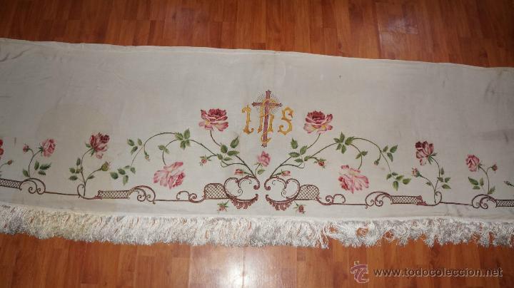 Antigüedades: FRONTAL DE ALTAR , PINTADO A MANO - Foto 10 - 47468799