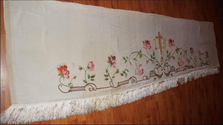 Antigüedades: FRONTAL DE ALTAR , PINTADO A MANO - Foto 12 - 47468799