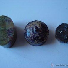 Antigüedades: TRES CAJITAS DOS DE MADERA Y UNA DE METAL.. Lote 47471650
