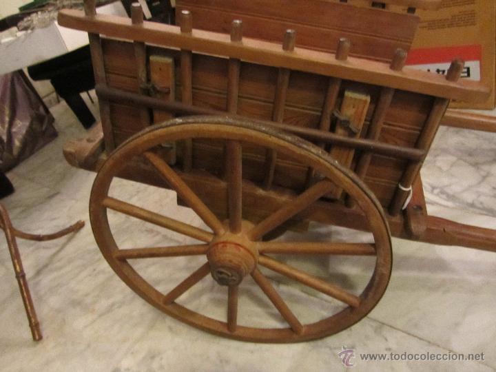 Antigüedades: Antiguo Carro de Arrastre para Animal Pequeño o Juguete de Niños - Año 1910 - Foto 2 - 47478822