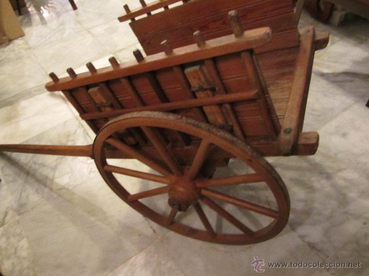 Antigüedades: Antiguo Carro de Arrastre para Animal Pequeño o Juguete de Niños - Año 1910 - Foto 6 - 47478822