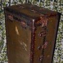 Antigüedades: ANTIGUO BAÚL DE VIAJE - MUNDO - MALETA - PRINCIPIOS SIGLO XX. Lote 47479019