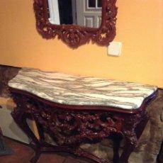 Antigüedades: CONSOLA Y ESPEJO DE MARIANO GARCÍA. Lote 47491156