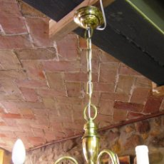 Antigüedades: LAMPARA DE TECHO DE LATÓN, PRINCIPIOS SIGLO XX. Lote 47500217