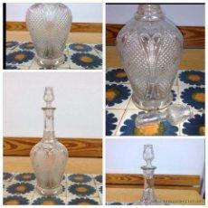 Antigüedades: LICORERA CRISTAL PRENSADO. Lote 47512072