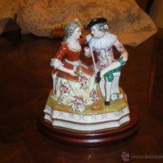 Antigüedades: FIGURA DE PORCELANA BISCUIT POLICROMADA-NAO. Lote 47515671