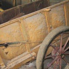 Antigüedades: ANTIGUO CARRO DE TIRO FABRICADO EN HIERRO. CARRO DE MULAS O CABALLOS.. Lote 47517226