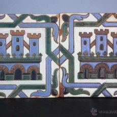 Antigüedades: AZULEJOS DE CUERDA SECA MENSAQUE RODRÍGUEZ Y CÍA. Lote 47746338