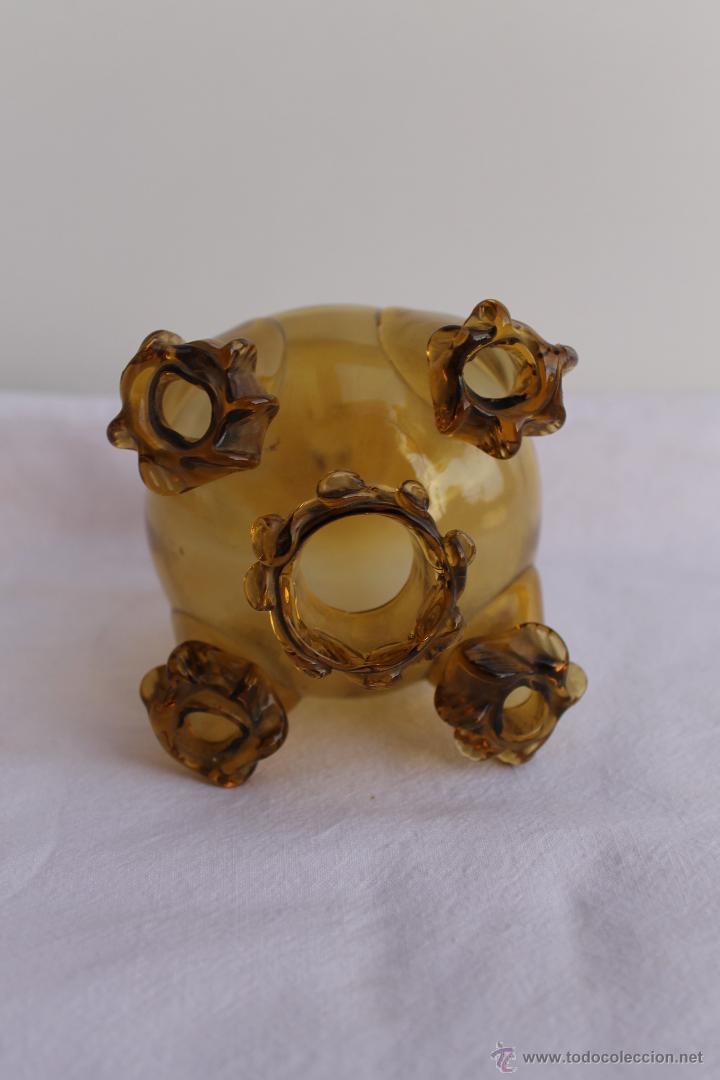 Antigüedades: RECIPIENTE CRISTAL MALLORQUIN O CATALAN 5 BOCAS - Foto 2 - 47517793