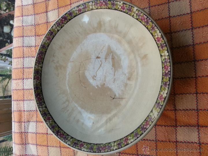 Antigüedades: ANTIGUO FRUTERO CARTUJA PICKMAN, BAJITO, DECORADO CON SELLO . SEVILLA - Foto 3 - 47520568