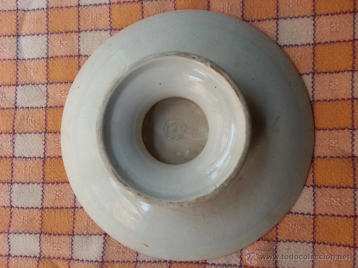 Antigüedades: ANTIGUO FRUTERO CARTUJA PICKMAN, BAJITO, DECORADO CON SELLO . SEVILLA - Foto 4 - 47520568