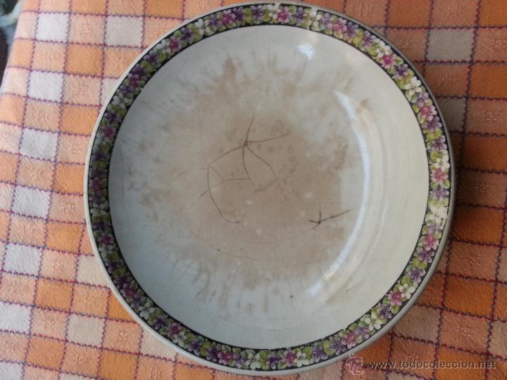 Antigüedades: ANTIGUO FRUTERO CARTUJA PICKMAN, BAJITO, DECORADO CON SELLO . SEVILLA - Foto 5 - 47520568