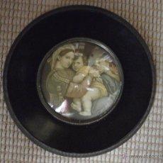 Antigüedades: VIRGEN CON NIÑO Y SAN JUANITO.. Lote 67555125
